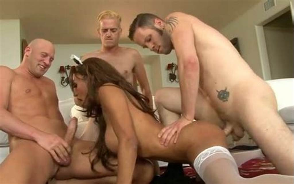 #Busty #Shemale #Wearing #Maid'S #Uniform #Is #Brutally #Gangbanged