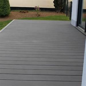 Wpc Terrassendielen Grau : wpc terrassendiele xxl megawood massiv grau komplettset komplettbausatz 5 78 m ebay ~ Watch28wear.com Haus und Dekorationen