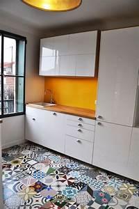 cuisine carreaux ciment 12 photos de cuisines tendance With cuisine carreaux de ciment