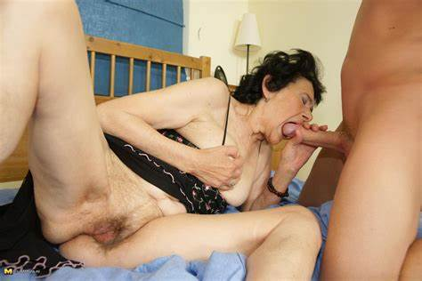 Perky Granny And Her Boytoy This Granny Lets Filled By Her Stud Dildo