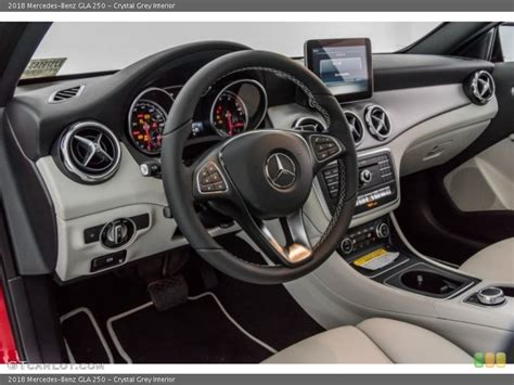 Inside it's much the same story, as there are a few new pieces of bright trim and also some new seat patterns, but the interior is pretty much the same as the outgoing model. Crystal Grey Interior Dashboard for the 2018 Mercedes-Benz GLA 250 #120750073 | GTCarLot.com