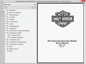 Harley Davidson Dyna Models  2013  Service Manual