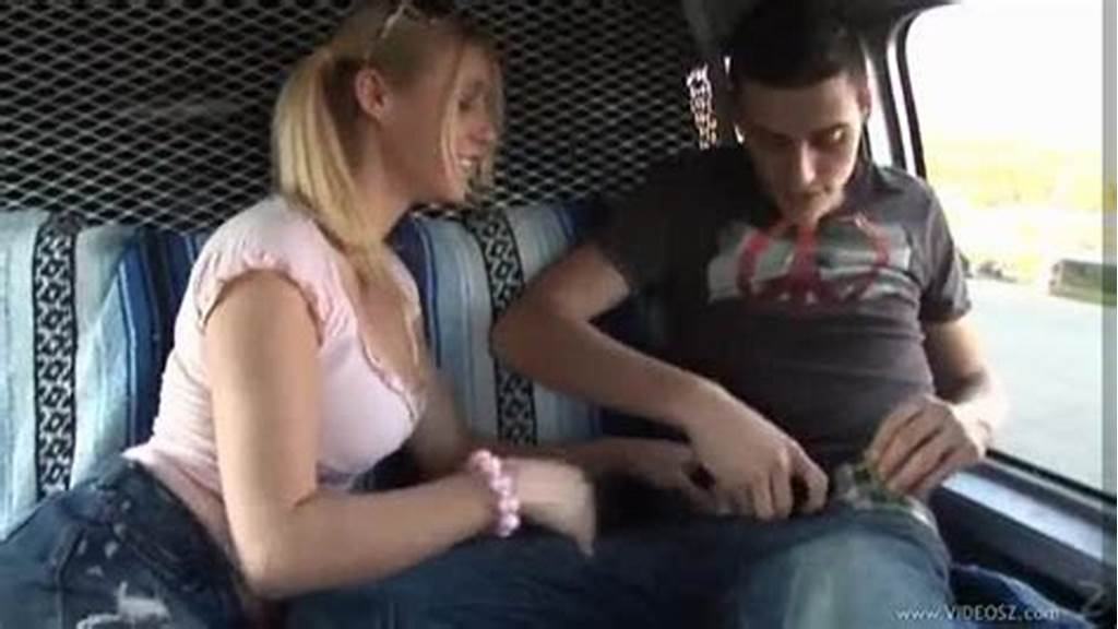 #Pigtailed #Girl #Giving #Handjob #In #Car