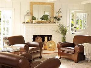 Elegant living room decorating ideas with brown leather for Living room ideas with brown furniture