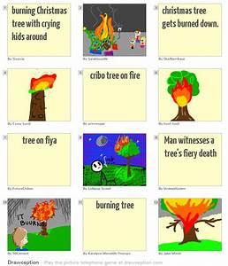 Burning, Christmas, Tree, With, Crying, Kids, Around