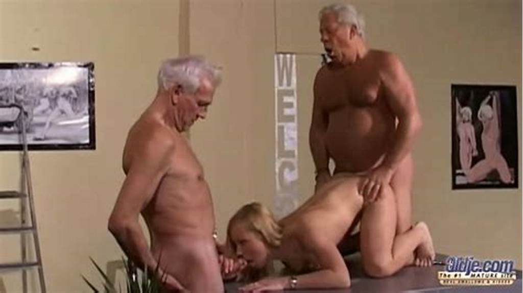 #Young #Nympho #Girl #Gets #Her #Pussy #Fucked #Hard #By #Two #Old