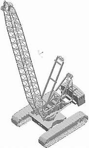 3d Model Of 80mt Demag Cc 280 Crawler Crane