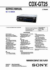 Sony Cdx-gt25 Service Manual