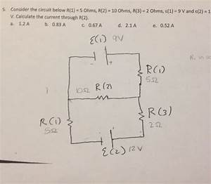 34 Consider The Circuit In The Diagram Below In Which R 10