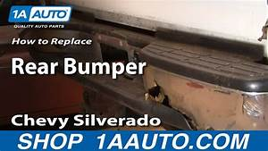 How To Install Replace Rusted Damaged Rear Bumper Chevy