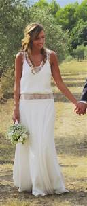 Robe de mariee boheme chic my wedding pinterest for Patron de robe de mariée