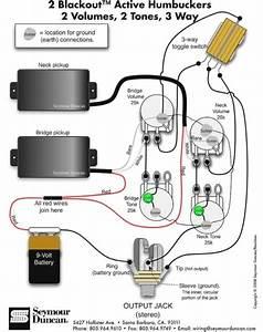 1 Volume 1 Tone 2 Humbucking Emg Active Wirin  U2013 Car Wiring