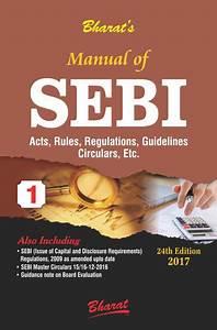Buy Manual Of Sebi Act  Rules  Regulations  Guidelines