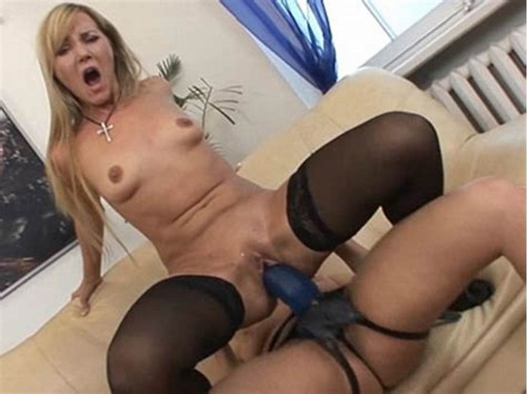 #Small #Tits #Blonde #Milf #In #Black #Stockings #Riding #Huge #Bl