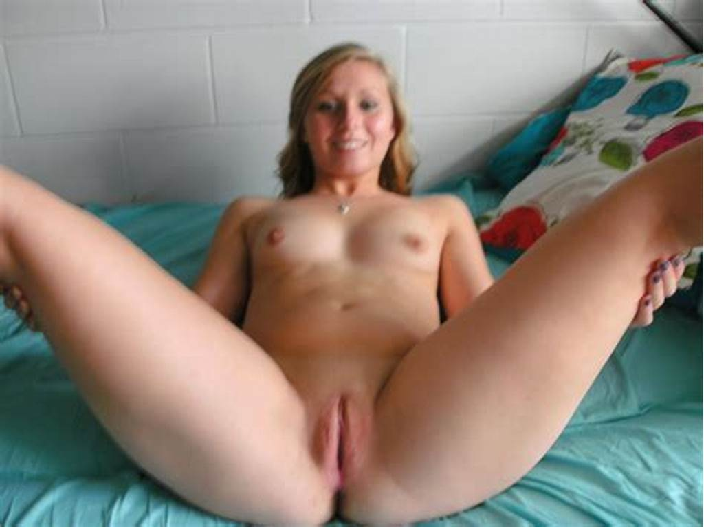 #College #Girl #Spreads #Her #Legs #On #Her #Bed