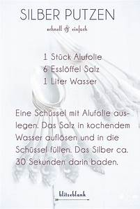 Silber Putzen Mit Natron : housekeeping silber putzen silber reinigen alufolie ~ Watch28wear.com Haus und Dekorationen