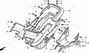 Honda Motorcycle 1994 Oem Parts Diagram For Body    Cover
