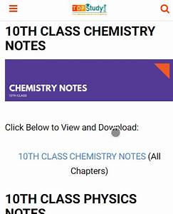 Classnotes  Chemistry Notes Class 10 Pdf