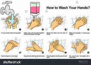 How Clean Wash Your Hand Step Stock Illustration 576288925