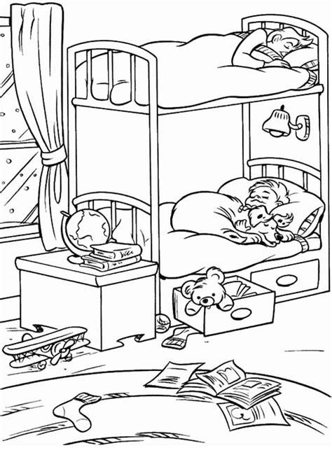 dessin de chambre coloriage de chambre a coucher