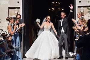 victoria swarovski39s incredible wedding dress weighed 46kg With victoria swarovski wedding dress