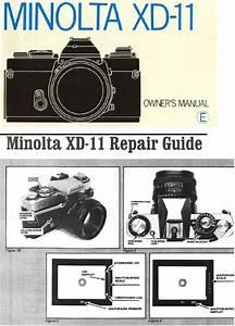Minolta Xd11 Xd7 Xd 35mm Camera Repair Guide - Instruction Manual