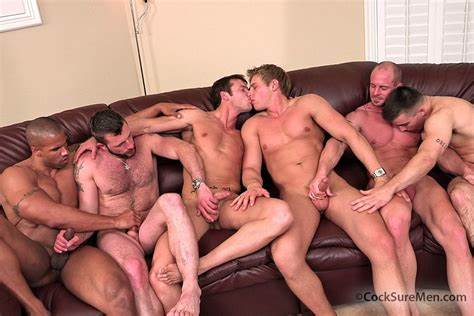 Orgy Passionate Trannies Jerk Their Cocks