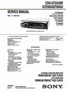 Sony Cdx-gt550ui  Cdx-gt55uiw  Cdx-gt600ui Service Manual
