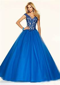 Light Pink Lace Mother Of The Bride Dress Ball Gown V Neck Royal Blue Tulle Lace Beaded Prom Dress