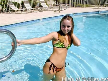 Swimming Nude Teen Girl