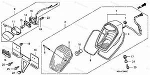 Honda Motorcycle 2003 Oem Parts Diagram For Taillight