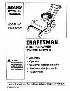 Craftsman 987 889000 User Manual