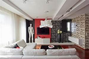 deco maison en rouge pour un appartement moderne vivons With decoration maison contemporaine moderne