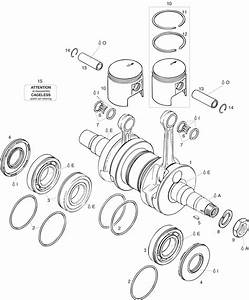 447 Ul Cdi Crankshaft  Piston