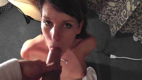 Angie Emerald In Lingerie Giving Footjob