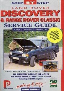 Porter Manuals  Land Rover Discovery And Range Rover