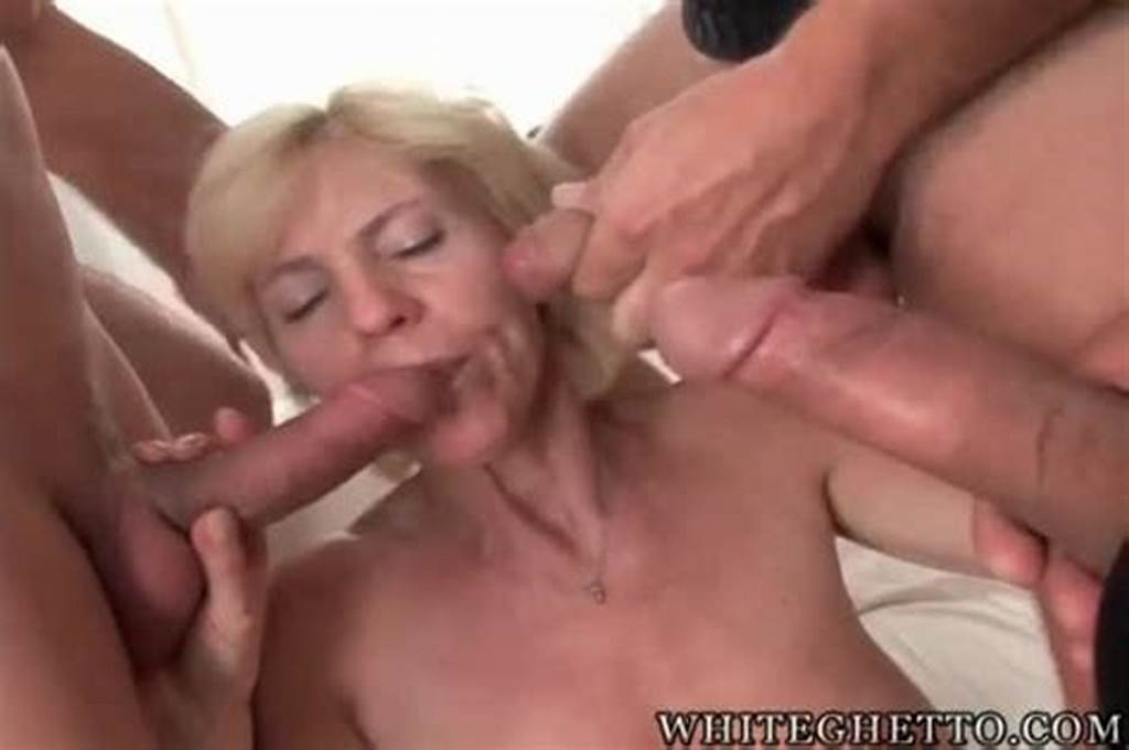 #Slender #Blonde #Granny #Giving #Many #Blowjobs