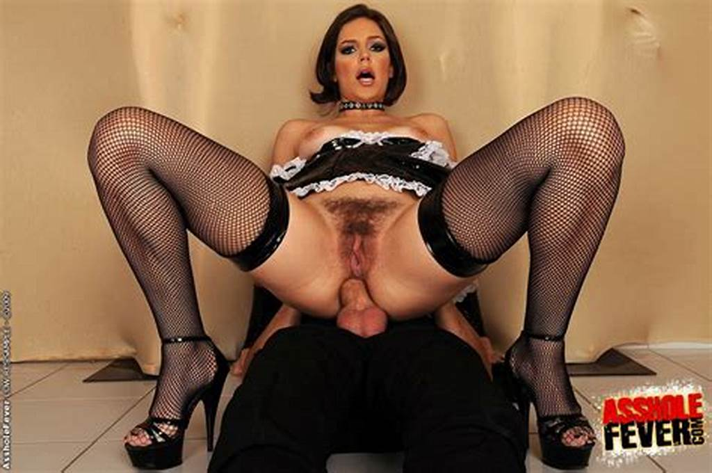 #Hot #Bitch #In #Latex #Maid #Uniform #And #Stockings #Gets #Her