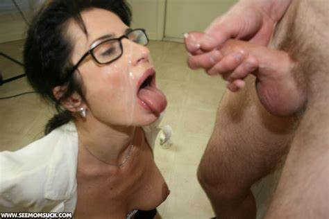Granny In Glasses And Topless Throating Getting