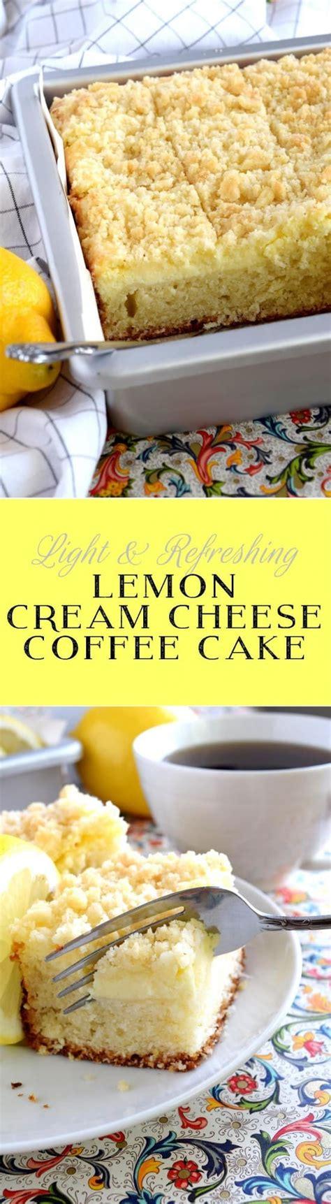 Coffee cake, lemon coffee cake, lemon cream cheese coffee cake. Lemon Cream Cheese Coffee Cake - Lord Byron's Kitchen