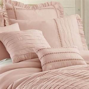 Queen, Cal, King, Bed, Mauve, Pink, Ruffled, Pintuck, Pleat, 8, Pc
