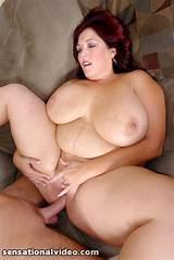 Chubby redhead having sex