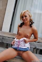 Blonde teen outdoor upskirt