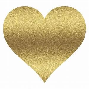 Gold Glitter Heart Clipart - ClipartXtras