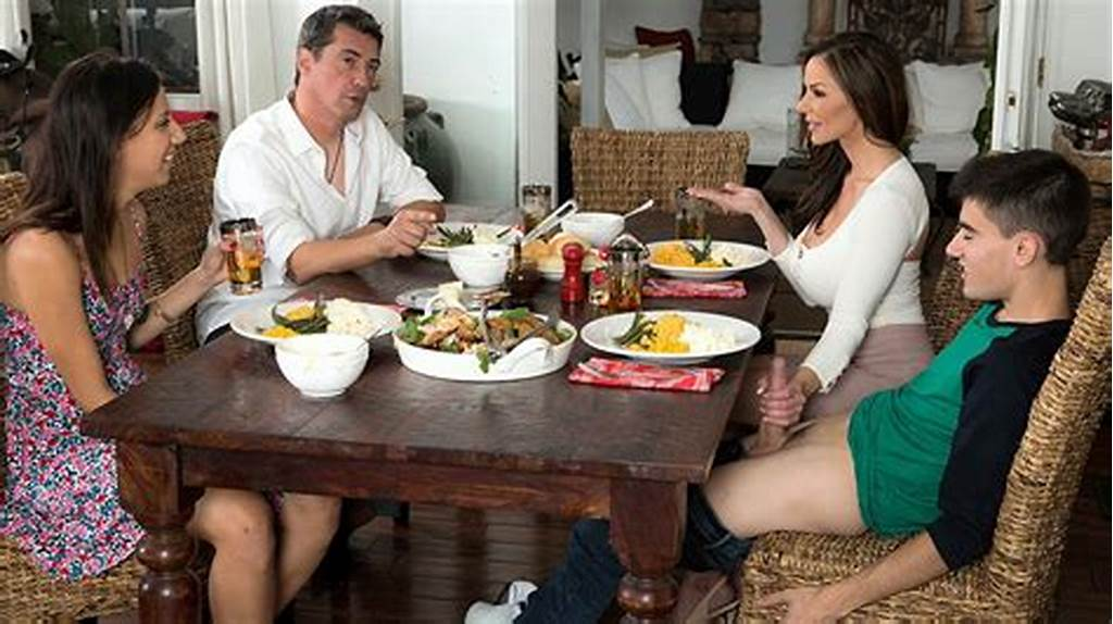 #Milf #Gets #Thanksgiving #Stuffing #From #Her #Daughters
