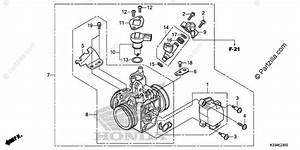Honda Motorcycle 2018 Oem Parts Diagram For Throttle Body