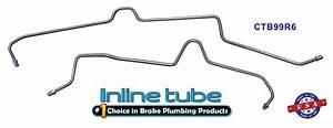 Rear Disc Axle Brake Lines 2pc 2000