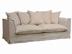 canape fixe 3 places en tissu cocoon coloris lin sable With tapis yoga avec but canape fixe 3 places