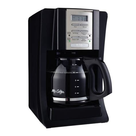 Shuts itself off removable filter basket lifts out for fast and easy filling and cleaning brewing pause 'n serve lets you pour a cup of coffee while the coffeemaker is still brewing dual water window shows the amount of water. Mr. Coffee Advanced Brew 12-Cup Programmable Coffee Maker Black/Chrome, BVMC-SJX23-RB - Walmart ...