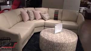 Palliser alula sectional leather sofa youtube for Palliser sectional leather sofa